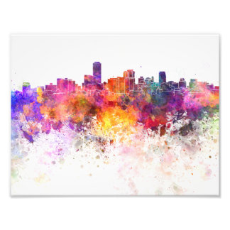 Foto Adelaide skyline in watercolor background