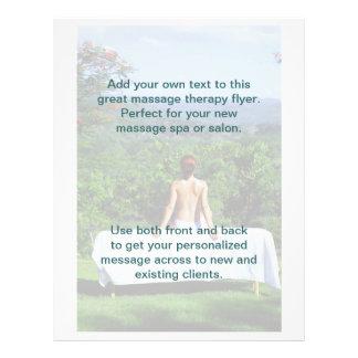 Foto al aire libre del masaje tarjeta publicitaria