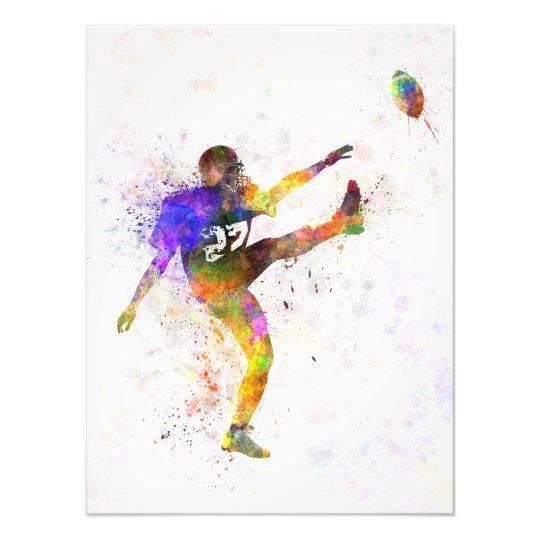 Foto american football player man kicker kicking