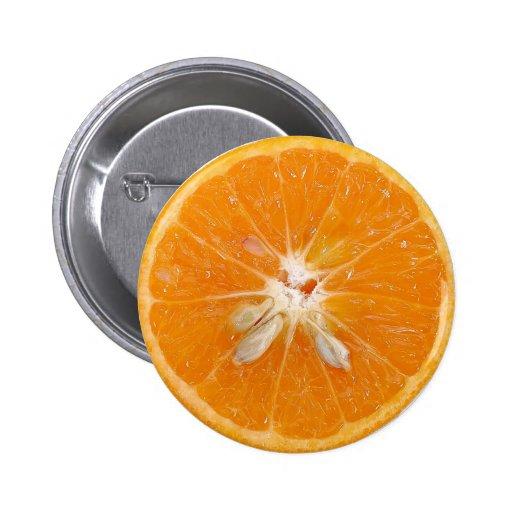 foto anaranjada de la rebanada pins