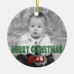 Foto anticuada de las Felices Navidad Ornamento Para Reyes Magos