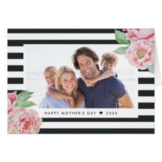 Foto antigua del día de madre de la raya el | del tarjeta de felicitación