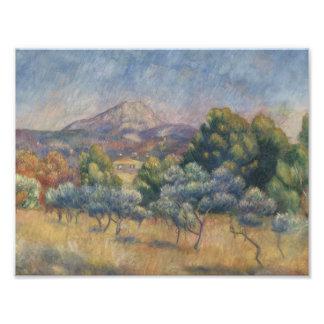 Foto Auguste Renoir - la montaña de Sainte-Victoire