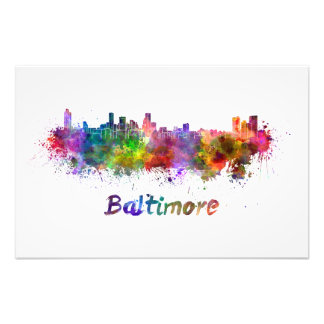 Foto Baltimore skyline in watercolor