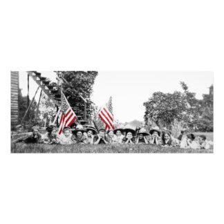 Foto Bandera americana de las mujeres patrióticas del