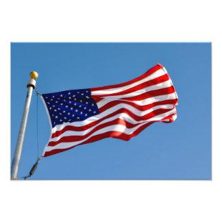 Foto Bandera americana en el viento