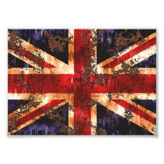 Foto Bandera patriótica aherrumbrada de Reino Unido