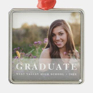 Foto blanca de la graduación de la capa el | adorno de cerámica
