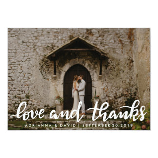 Foto blanca de los pares de la escritura del amor invitación 12,7 x 17,8 cm