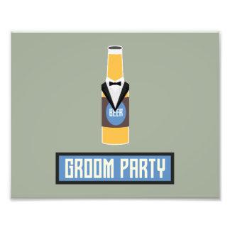 Foto Botella de cerveza del fiesta del novio Z77yx