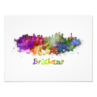 Foto Brisbane skyline in watercolor