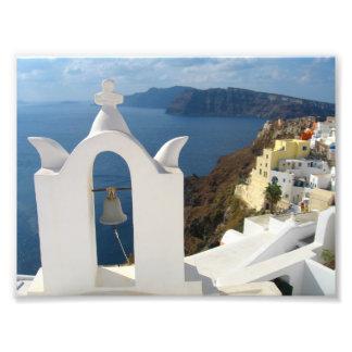 Foto Campanario de Santorini por la tarde Sun
