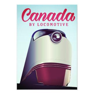 Foto Canadá por el poster locomotor del tren de los