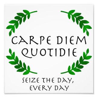 Foto Carpe Diem Quotidie - agarre el día, cada día