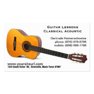 Foto clásica de la guitarra acústica - lecciones tarjetas de visita