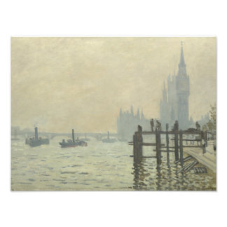 Foto Claude Monet - el Thames en Westminster