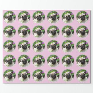 Foto color de gamuza linda del perro de perrito papel de regalo