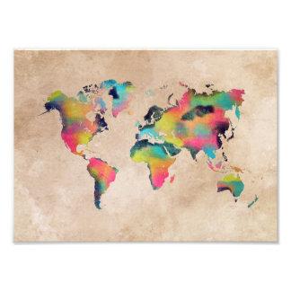 Foto color del mapa del mundo