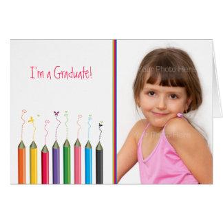 Foto coloreada del texto del graduado de la juvent tarjeton