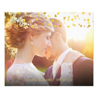 Foto Confeti personalizado de los corazones del oro de