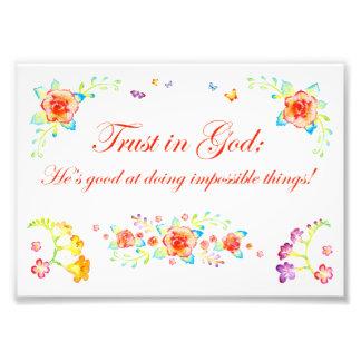 Foto Confianza en dios