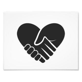 Foto Corazón negro conectado amor