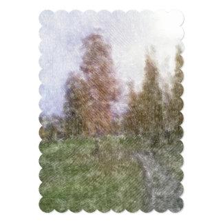 Foto corregida del bosque anuncio personalizado