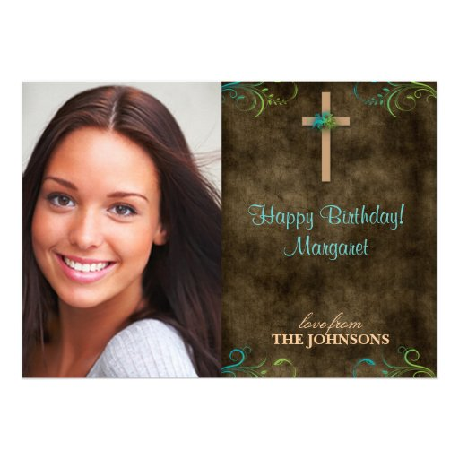 Foto cristiana de la fiesta de cumpleaños puedo ha invitación