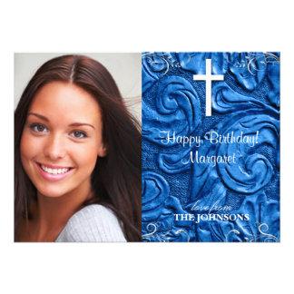 Foto cristiana de la fiesta de cumpleaños puedo ha anuncio personalizado