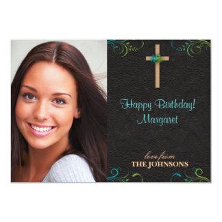 Foto cristiana de la fiesta de cumpleaños puedo anuncio personalizado
