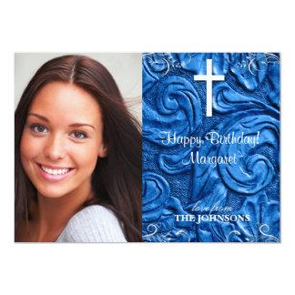 Foto cristiana de la fiesta de cumpleaños puedo invitación 12,7 x 17,8 cm