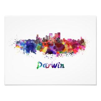 Foto Darwin skyline in watercolor