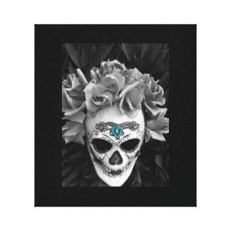Foto de Dia de Los Muertos Mask Impresion De Lienzo