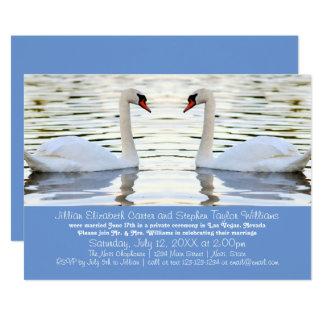 Foto de dos cisnes - invitación del boda