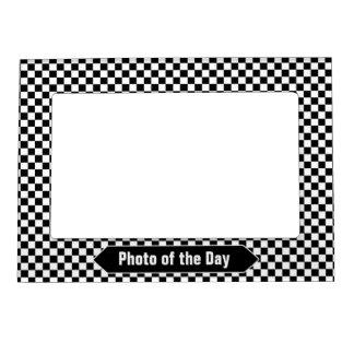 Foto de encargo a cuadros blanco y negro marcos magnéticos para fotos