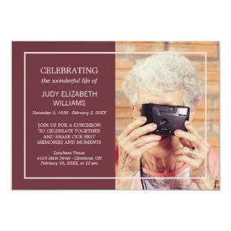 Foto de encargo de celebración mínima marrón de la invitación 12,7 x 17,8 cm