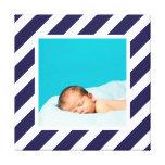 Foto de encargo del bebé y arte rayado del cuarto  impresion de lienzo