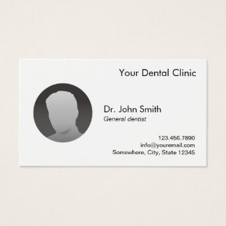 Foto de encargo llana simple de la cita dental tarjeta de visita
