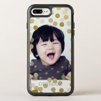 Foto de encargo y falso confeti del oro funda OtterBox symmetry para iPhone 8 plus/7 plus