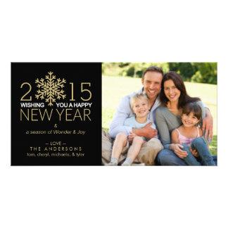 Foto de familia del copo de nieve del día de tarjetas con fotos personalizadas