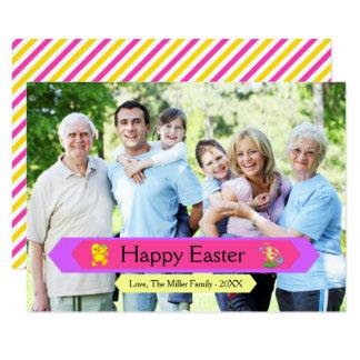 Foto de familia feliz de Pascua - tarjeta de 3x5