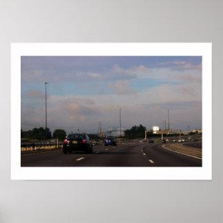 Foto de la carretera póster