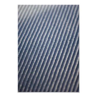 Foto de la fibra de carbono texturizada invitación 8,9 x 12,7 cm