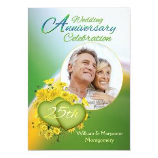 Foto de la fiesta de aniversario del amor 25 de la invitación 12,7 x 17,8 cm
