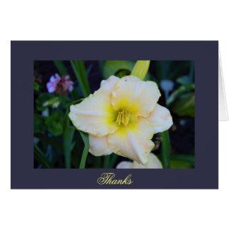 Foto de la flor tarjeta de felicitación