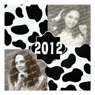 Foto de la graduación de la impresión de 2012 vaca comunicado personal