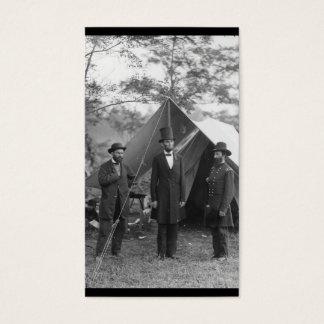 Foto de la guerra civil circa 1862 tarjeta de negocios