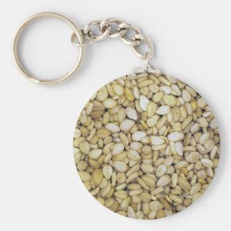 Foto de la macro de la semilla de sésamo llaveros personalizados