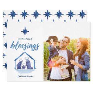 Foto de la natividad de las bendiciones del invitación 12,7 x 17,8 cm