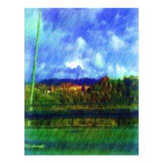 Foto de la pintura de la naturaleza del camino flyer a todo color